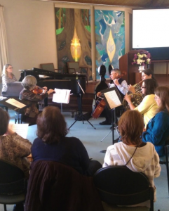 "Our twice-monthly music offering was Orchestra this week… they are preparing holiday music for our December ""Stone Soup"" event."