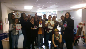 Last week in celebration of El Dia de los Muertos, one of our adult offerings made calaveras, or colorful skulls. Who doesn't love a little arts and crafts time?