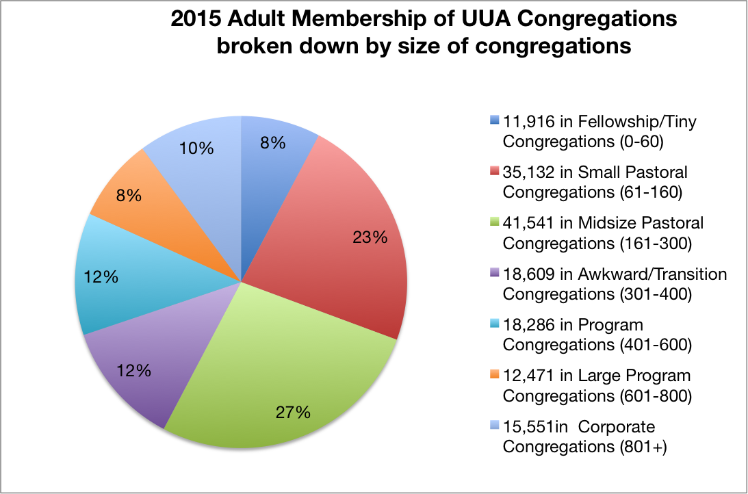 2015 UUA Adult Membership by size tkr