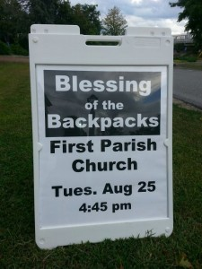 Blessing Backpack Sandwich Sign